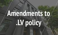 Amendments to .LV policy